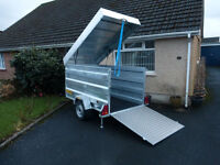 Metal box trailer from CLH Trailers lockable lid 7ft x 4ft x 4ft