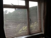 2 x wooden Venetian blinds