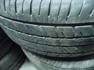 4 pneus d'été usagés, Goodyear Eagle 215/55/17.