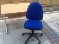 Quality office desk and chair. Suitable for computer or study. Wheeled chair.