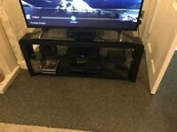Black and glass tv unit