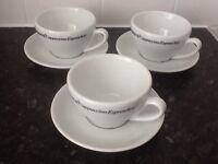 Three original Cappuccino cups & saucers £8