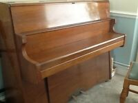 Uptight piano in teak finish