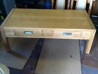 Oak coffee table in reasonable condition no stains on it