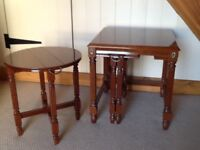 Nest of 3 Tables. Regency style legs. Good condition.