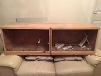 Double bird breeding cage