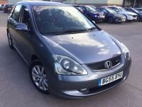 **FULL DEALERSHIP HISTORY** 2005 HONDA CIVIC 2.0 i-VTEC TYPE S 5 DOOR HATCHBACK **12 MONTHS MOT**
