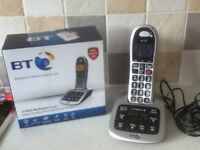 BT4500 Big Button Single Digital Cordless Phone with Answer Machine Designed to block nuisance calls