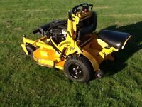 "Wright Stander Sports Rapid Height 36"" Stand On Or Sit Down Zero Turn Rotary Mower"