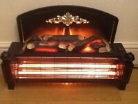 DIMPLEX TWO BAR ELECTRIC FIRE WITH LOG FIRE EFFECT