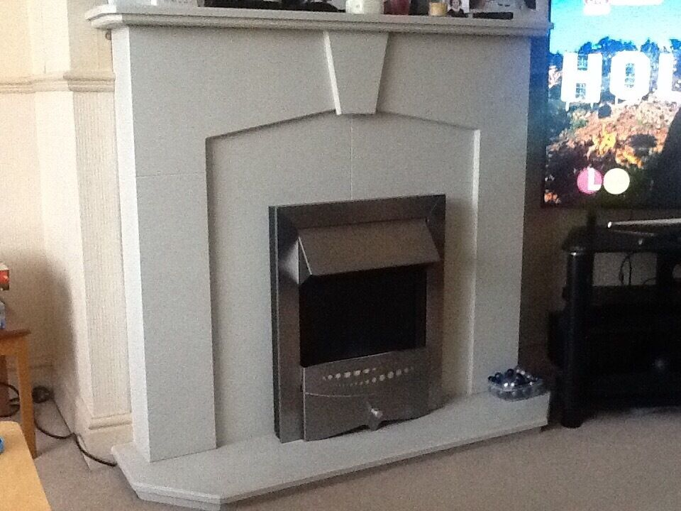 Mdf Fire Surround And Blue Flame Affect Electric Fire In Gillingham Kent Gumtree