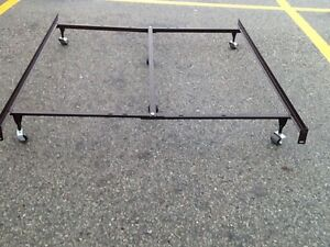 King size bed frame with centre support