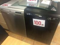 SILVER AND BLACK DISHWASERS WITH WARRANTY QUALITY ASSURED