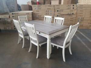 """""""BOLANBURG"""" - DINING TABLE   CHAIRS SET Epping Whittlesea Area Preview"""