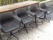 Retro black chairs x 4 $10 each Hawley Beach Latrobe Area Preview