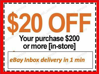 One~1x~ Home Depot Coupon $20 OFF $200 InStoreOnly ~~ lNSTANT~FAST~SENT-1min