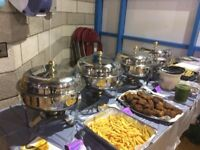 Chafing dishes with fire gel for serving food- Rental