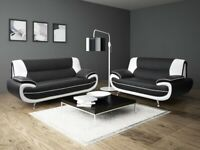 🔥BRAND NEW SOFA AVAILABLE 3+2 (Black&White) INBOX ME YOUR ORDER 🔥