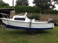 16ft Mayland boat with 25hp engine and trailer