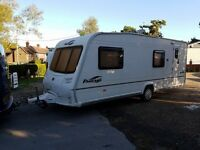 Bailey Pageant Bretange 6 Berth caravan 2007 ,FIXED BUNK BEDS, AWNING, BARGAIN !