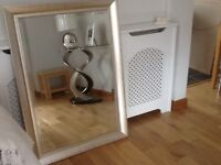 Glass TV table and large mirror £30 will sell separately.
