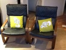Four vintage IKEA 'rocking' armchairs with free footrest South Yarra Stonnington Area Preview