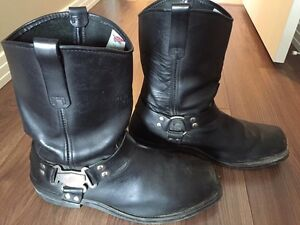 Men's Leather Motorcycle Boots
