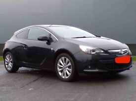 Black Vauxhall Astra GTC 1.4 i Turbo 16v SRi (s/s) 3dr