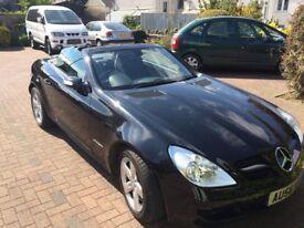 Mercedes SLK 200 KOMPRESSOR Black. Electric hard top convertible