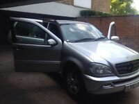 2002 MERCEDES ML 320 AUTO SILVER petrol AUTOMATIC ONE YEAR MOT