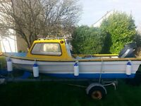 dejon 14ft 10hp yamaha and trailer