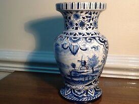 Genuine antique 18C Delft faience vase