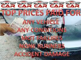 WE BUY ANY SCRAP CARS VEHICLE NONE RUNNERS MOT FAILURES SOLIHULL