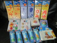 ASSORTMENT OF WINNIE THE POOH BEDROOM DECORATING ITEMS INCLUDES BORDERS,STENCILS, HANDLES .HOOKS