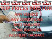 TOP MONEY PAID FOR UNWANTED SCRAP CARS VEHICLE NONE RUNNERS MOT FAILURES SOLIHULL