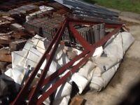 Garage Roof trusses steel