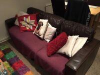Free 3 seat leather sofa