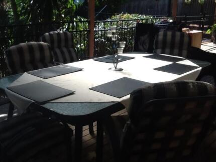7 piece outdoor setting with extra chairs Merrimac Gold Coast City Preview