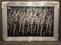Star Wars STORM TROOPER - Liquid Art And Swarovski Crystal (Brand New)