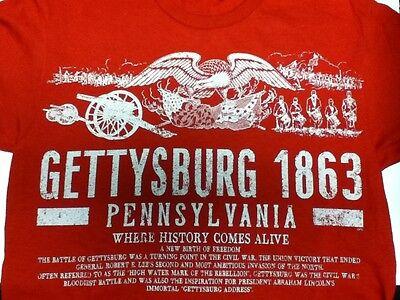 Gettysburg Pennyslvania 1863 Where History Comes Alive T Shirt New