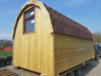 Camping pod , glamping pod , sleeping area , garden office , spare room 16ft.