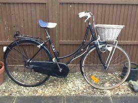 vintage working bycle, stylish retro bike