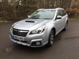 Subaru Outback Est 2.0D SX 5dr Lineartronic Silver Part-leather FSH 6 months tax 1 yr MOT 57K miles