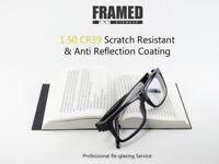 Glasses In-House Reglazing Service 1.50 Index Single Vision Anti Glare & Scratch Resistant