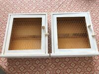 2 small wall cabinets Arts & Crafts style
