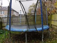 FREE - 12ft trampoline with safety net.