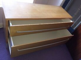 2 X Beech Drawer Units
