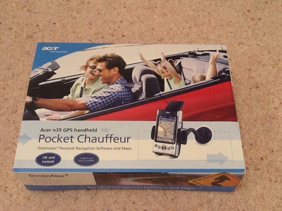 Acer n35 GPS handheld Pocket Chauffeur Sat Nav