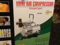 Mini air compressor air brush
