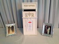 We hire this Stunning Wooden White Post Box, Great 4 Parties, Christenings & Weddings hire for £15
